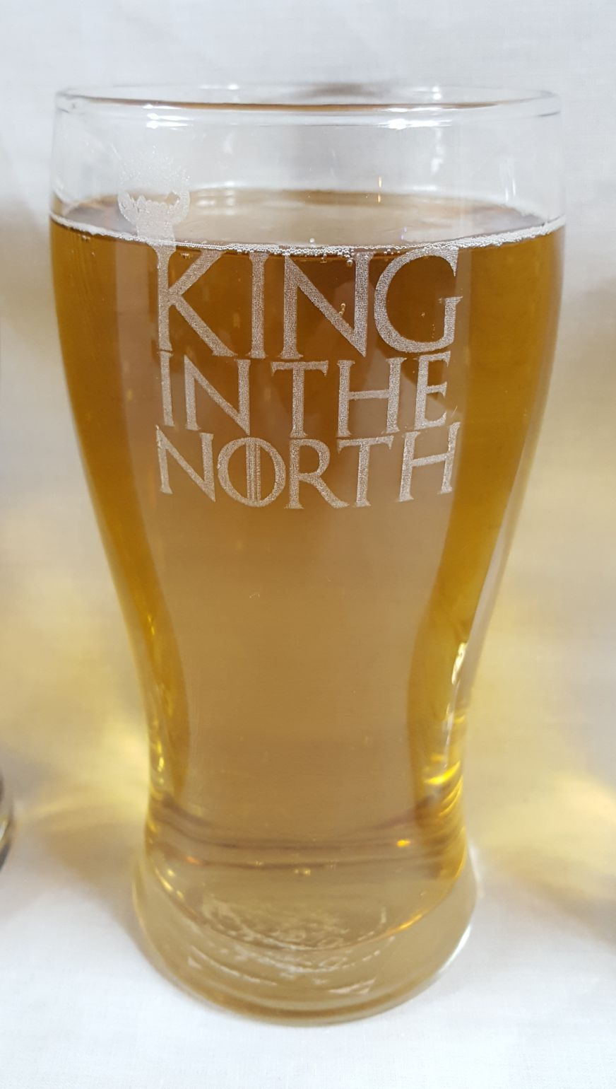 Game Of Thrones Inspired King In The North Pint Glass With
